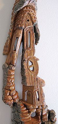 Bark Carving - #12 - Detailed view