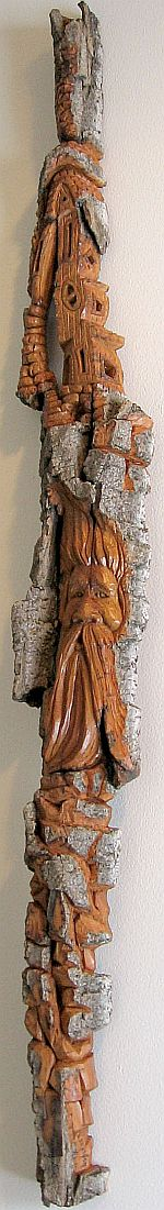 Bark Carving - #12 - 92 x 10 cm  (36 x 4 inches)