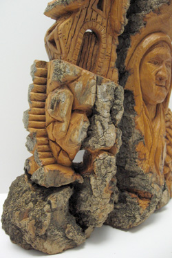 Bark Carving - #16 - Detailed view