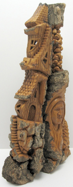 Bark Carving - #16 - 36 x 19 cm  (14 x 7.5 inches)