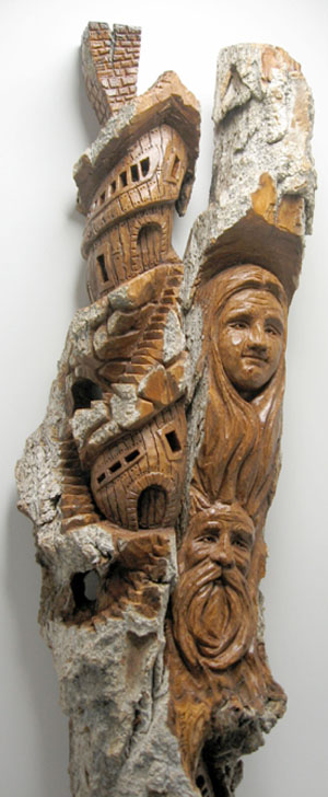 Bark Carving - #21 - Detailed view