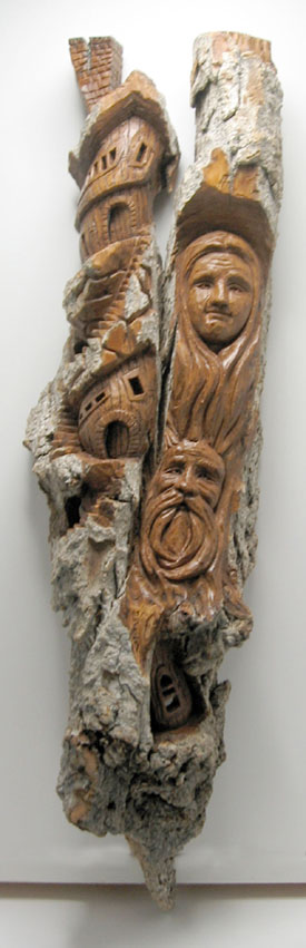 Bark Carving - #21 - 59 x 15 cm  (23 x 6 inches)