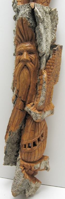 Bark Carving - #22 - Detailed view