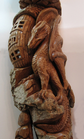 Bark Carving - #25 The Guardian - Detailed view