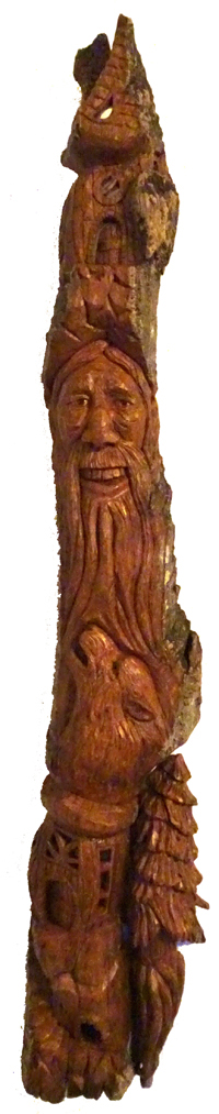 Bark Carving - #35 - 69 x 14 cm  (27 x 5.5 inches)