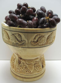 Carved Turnings - Grape Bowl