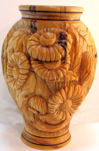 Carved Turnings - Daisy Vase