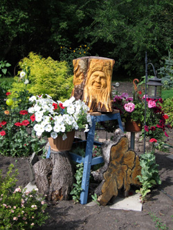 Trunk and Stump - Trio in the Garden