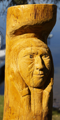 Spruce Carving Anglin Lake 2018   .....Photography by K Davidson - Detailed View